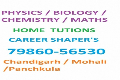 Career Shapers Home Tuitions, Biology Home Tutor in Mohali,maths Home Tutor in Mohali,Physics Home Tutor in Mohali,chemistry Home Tutor in Mohali,11th all subjects home tutor ion mohali