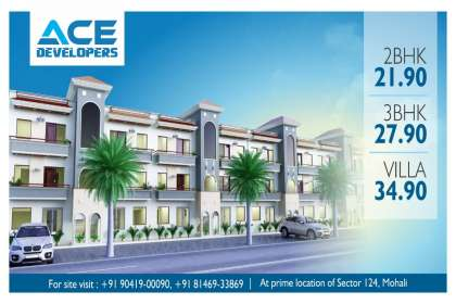 Ace Developers, ready to move flats in kharar,2 bhk ready to move flats in kharar,3 bhk ready to move flats in kharar,ready to move flats near air port road mohali