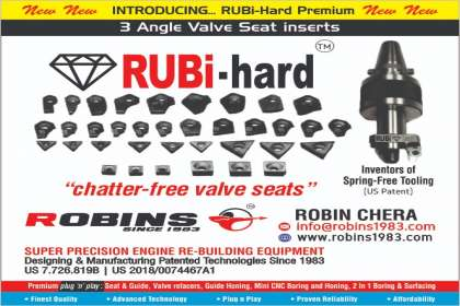 Van Norman Machine(India) Pvt. Ltd, 3 angle valve seat inserts , rubi hard 3 angle valve seat inserts , seat and guide machine, valve seat cutting machine ,3 angle valve seat cutting inserts