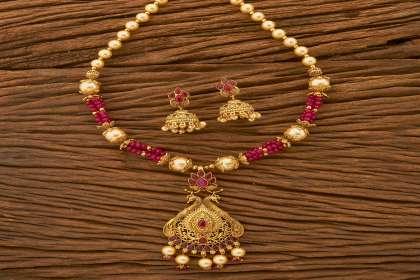 IndiHaute, pendant necklace set online , pendant necklace set online shopping , pendant necklace set online india , pendant necklace set for mom , pendant necklace set for sister