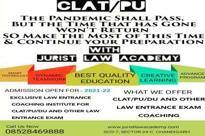 JURIST LAW ACADEMY, clat coaching in Chandigarh,  law entrance coaching institute in Chandigarh, best online law entrance coaching in Chandigarh, best clat coaching institute in Chandigarh