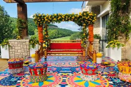 Urban Events, weddingplannersinpune, destinationwedding, haldidecor, mehendidecor, floraldecor, eventplannerinpune