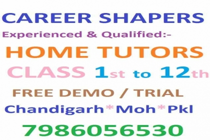 Career Shapers Home Tuitions, all subjects home tutors in mohali,famous home tutors in mohali,all subjects home tutor in mohali,2 class home tutor in mohali,3 class home tutor in mohali,4 class home tutor in mohali