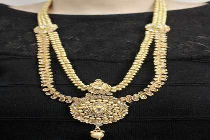 layered necklace set  - IndiHaute, layered necklace set online , layered necklace set for sale , layered necklace set for saree , layered necklace set wedding , layered necklace set online shopping , layered necklace set online india ,