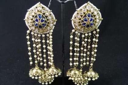 IndiHaute, long earrings for wedding ,  long earrings for wedding indian , long earrings for saree , long earrings for lehenga , long earrings for grown , long earrings for party , long earrings for ladies